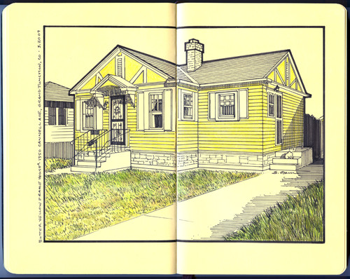 Butter Yellow Frame House ii