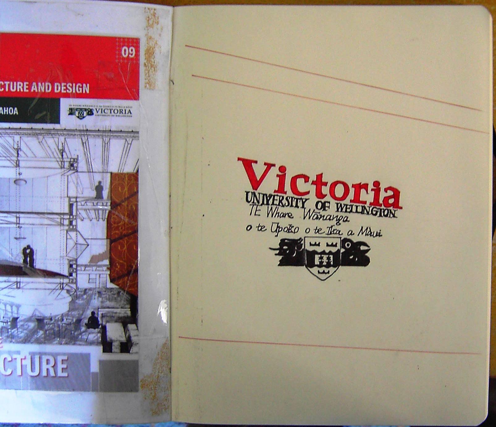 My drawing of Vicotira University Sign