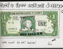 cutout dollar