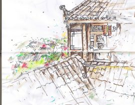 Lijiang old town- live sketch