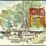 Sketch from a hike – Denmark