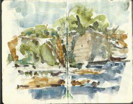 Stevns Klint – Denmark watercolor sketches
