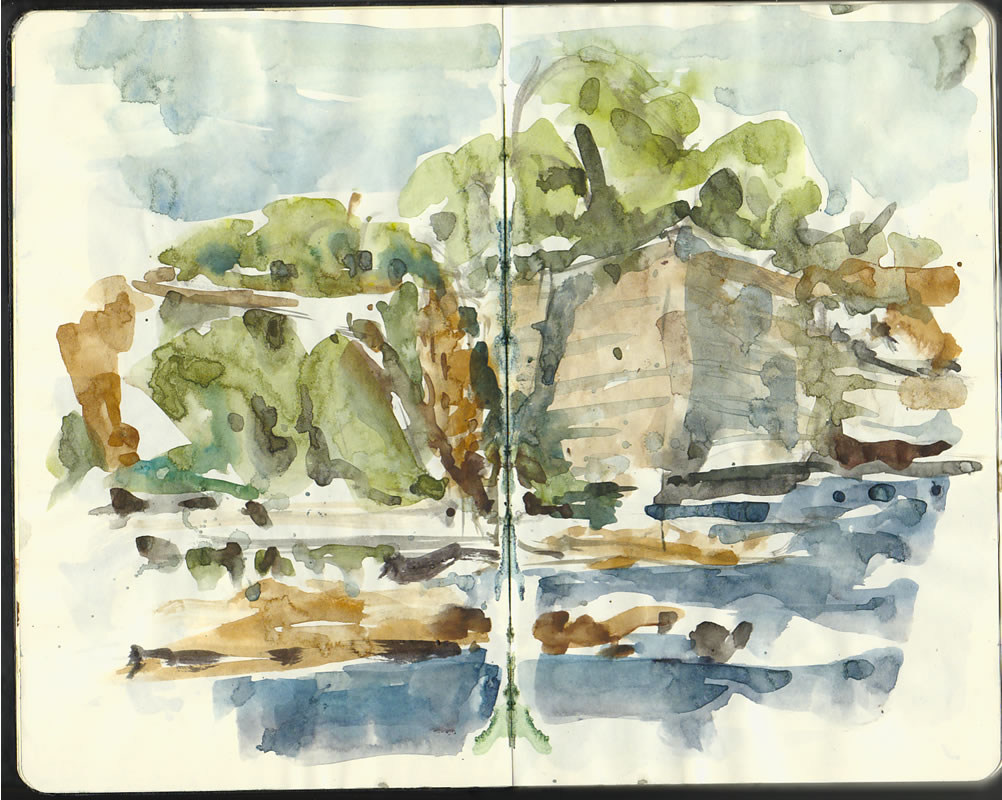 Stevns Klint – Denmark watercolor sketches