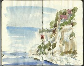 Sketching on Stevns Klint