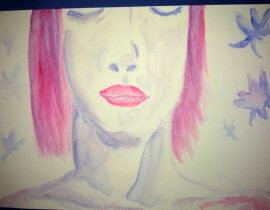 The red hair girl