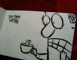 Cafe Cartoons in Auckland, New Zealand