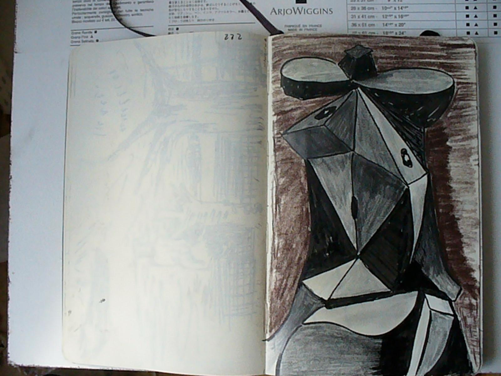 Tête de femme d'après Picasso