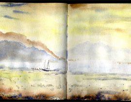 Study of David Bellamy Watercolor