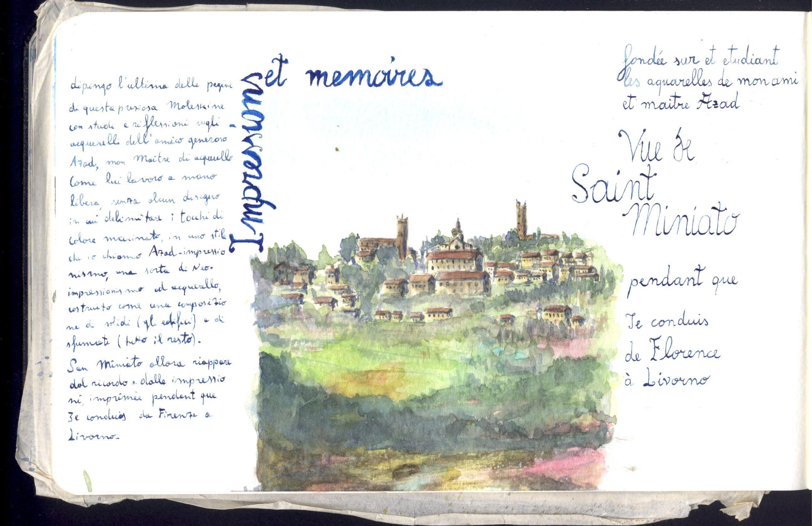 Impressions et memoires: vue de Saint Miniato pendant que Je conduis de Florence à Livorno