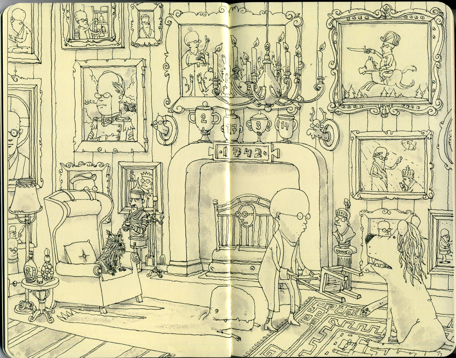 A lion in the drawing room