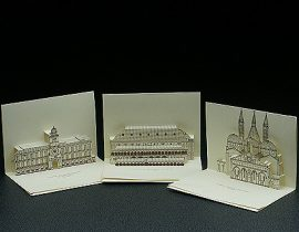 3D Popup Kirigami postcards with monuments