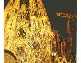 Barcelona- Sagrada Família painted