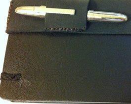 Leather Pen Holder & paper bookmarks
