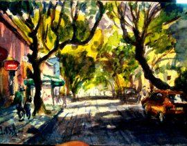 Una Calle en Coyoacan México