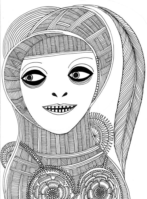 Inspired by Madhubani illustration