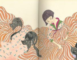 KOREAN GIRL WITH CATS