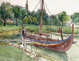 Viking ship in Roskilde