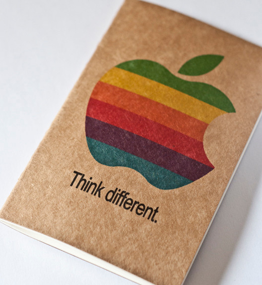 "Apple ""Think different."" Moleskine Cahier (iMac, iPhone, iPad, iPod, iTunes)"