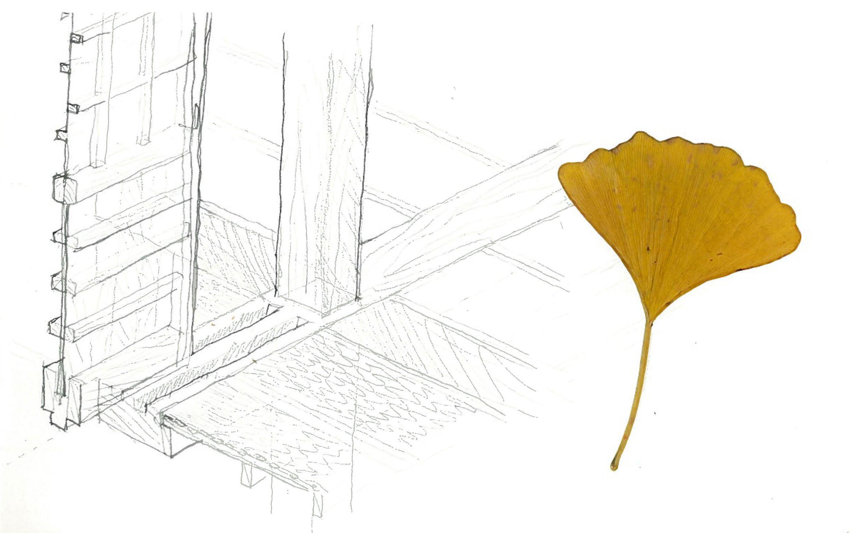 Kyoto Temple Engawa detail