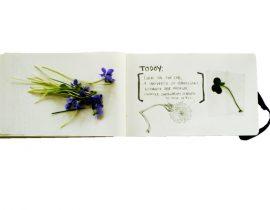 springtime molskine page