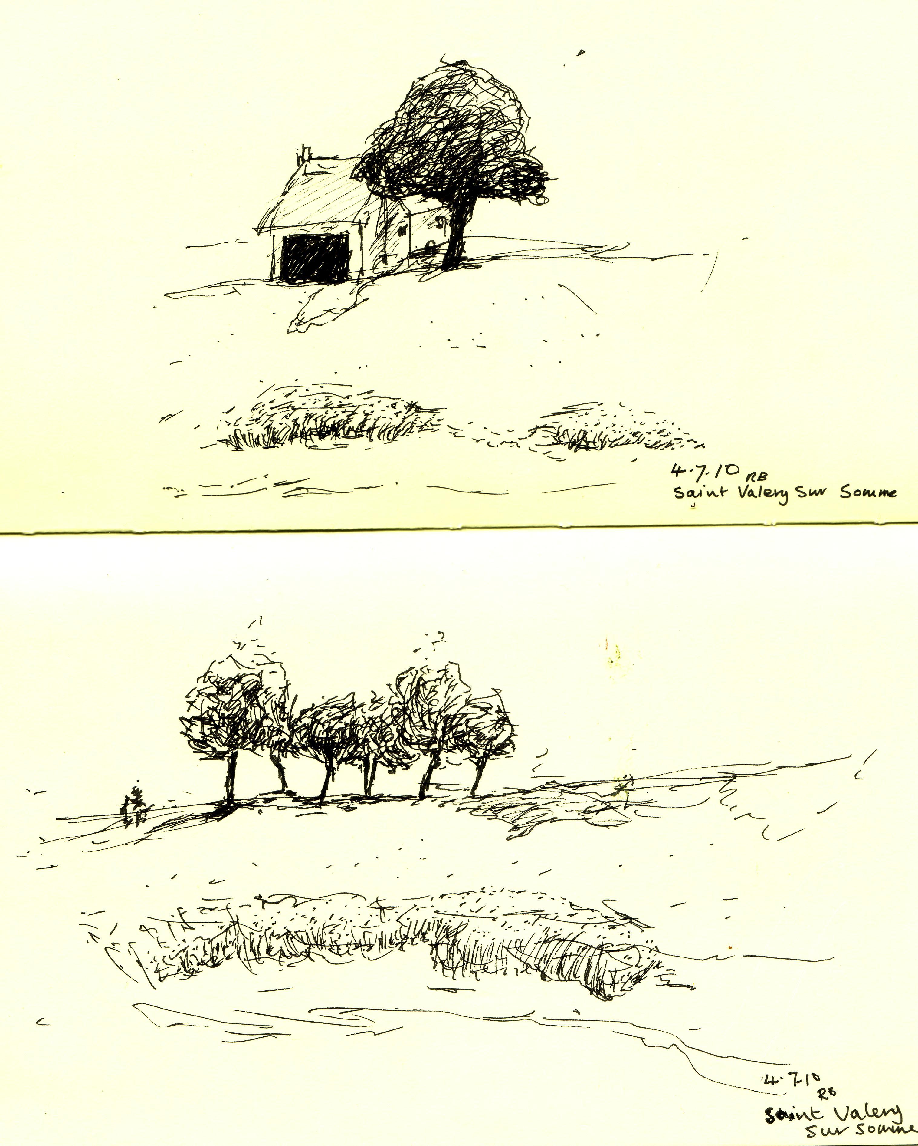 Baie de Somme, two river scenes.