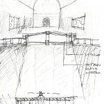 Frank Lloyd Wright residence play room sketch