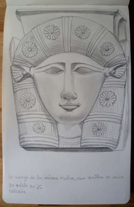 Drawing in Louvre museum