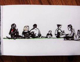 Group of urban sketchers