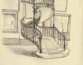 L'escalier du musée Gustave Moreau