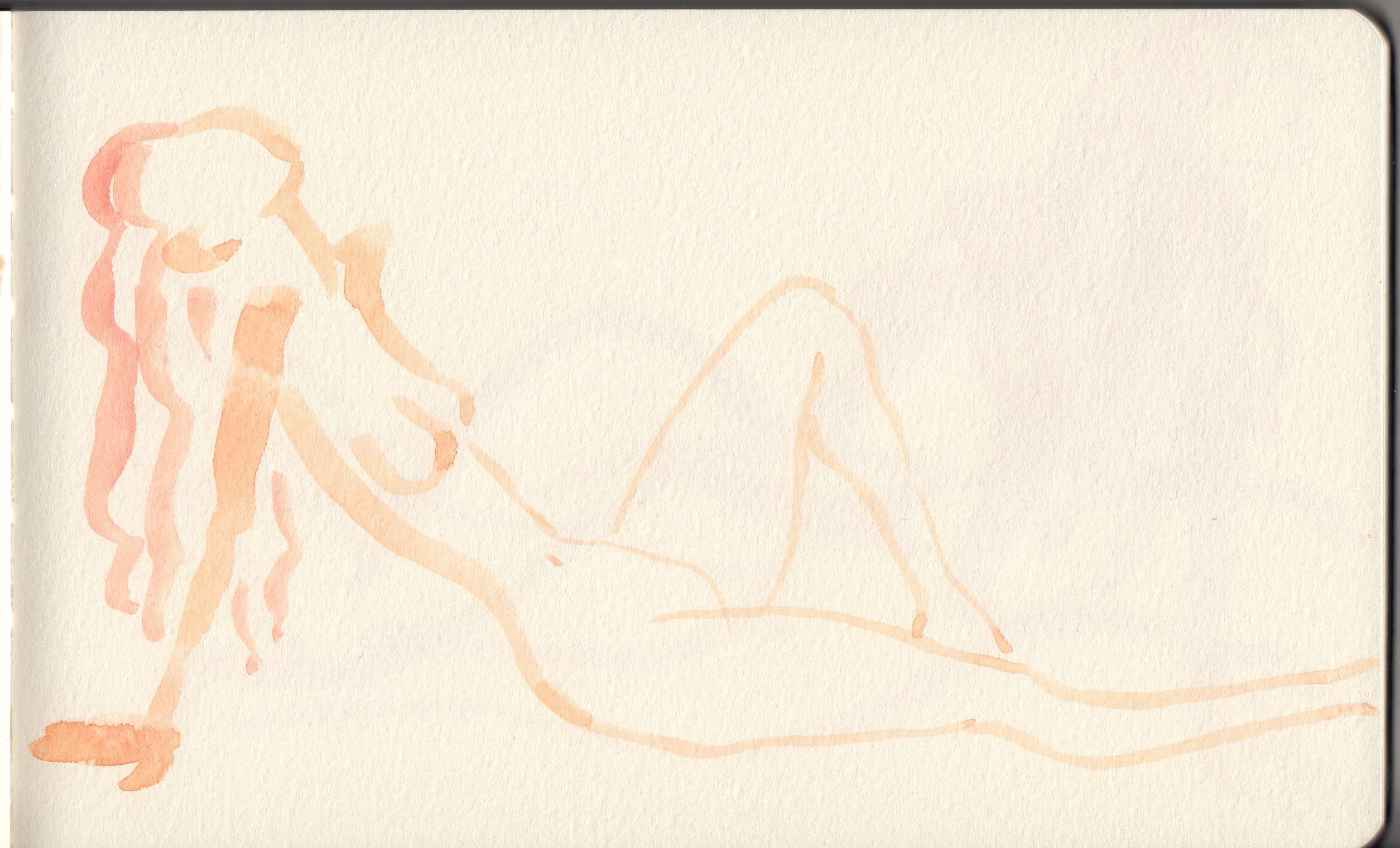 Woman laying