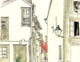 Desde la plaza de San Roque, Santiago de Compostela (España)