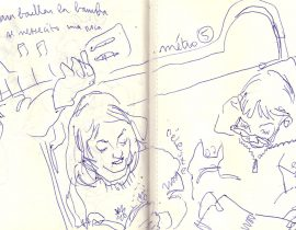 croquis de métro parisien