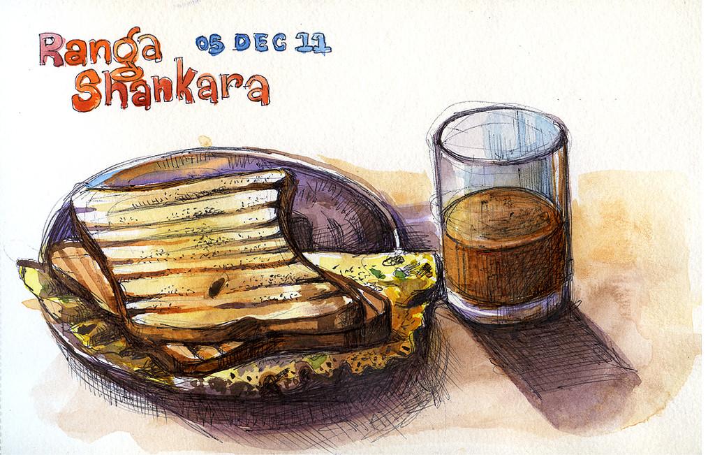 Breakfast at Ranga Shankara – Bangalore, india