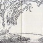Engarved tree