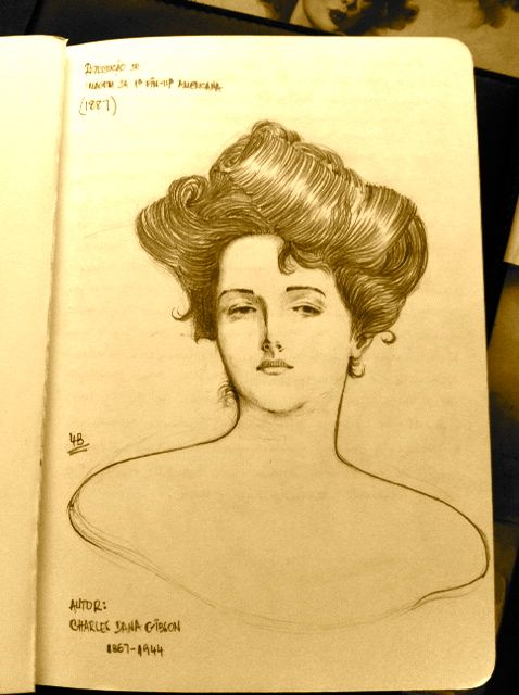 Reproduction of Dana Gibson's Pin-Up
