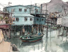 Boats in Tai O, Hong Kong