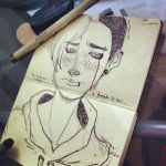 sand sketch, sketchbook, sketcher, drawing, ilustration, mexico , ross, monterrey, punk, portrait, ink , pen, art