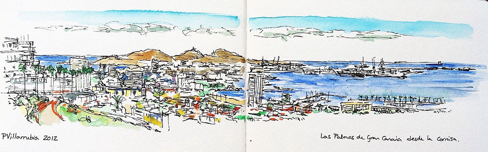 Las Palmas de Gran Canaria from La Cornisa