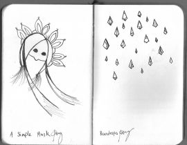 A Simple Mask and Raindrops