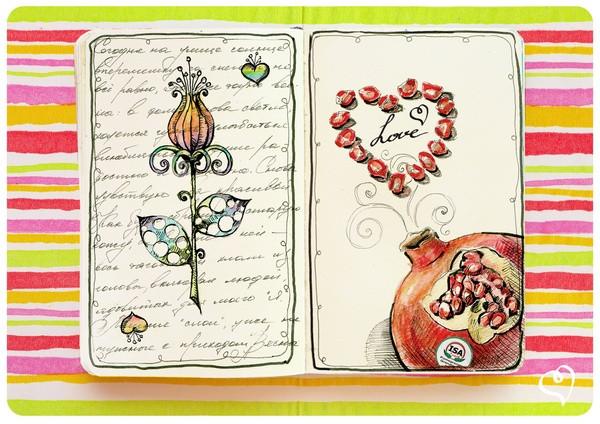A pomegranate