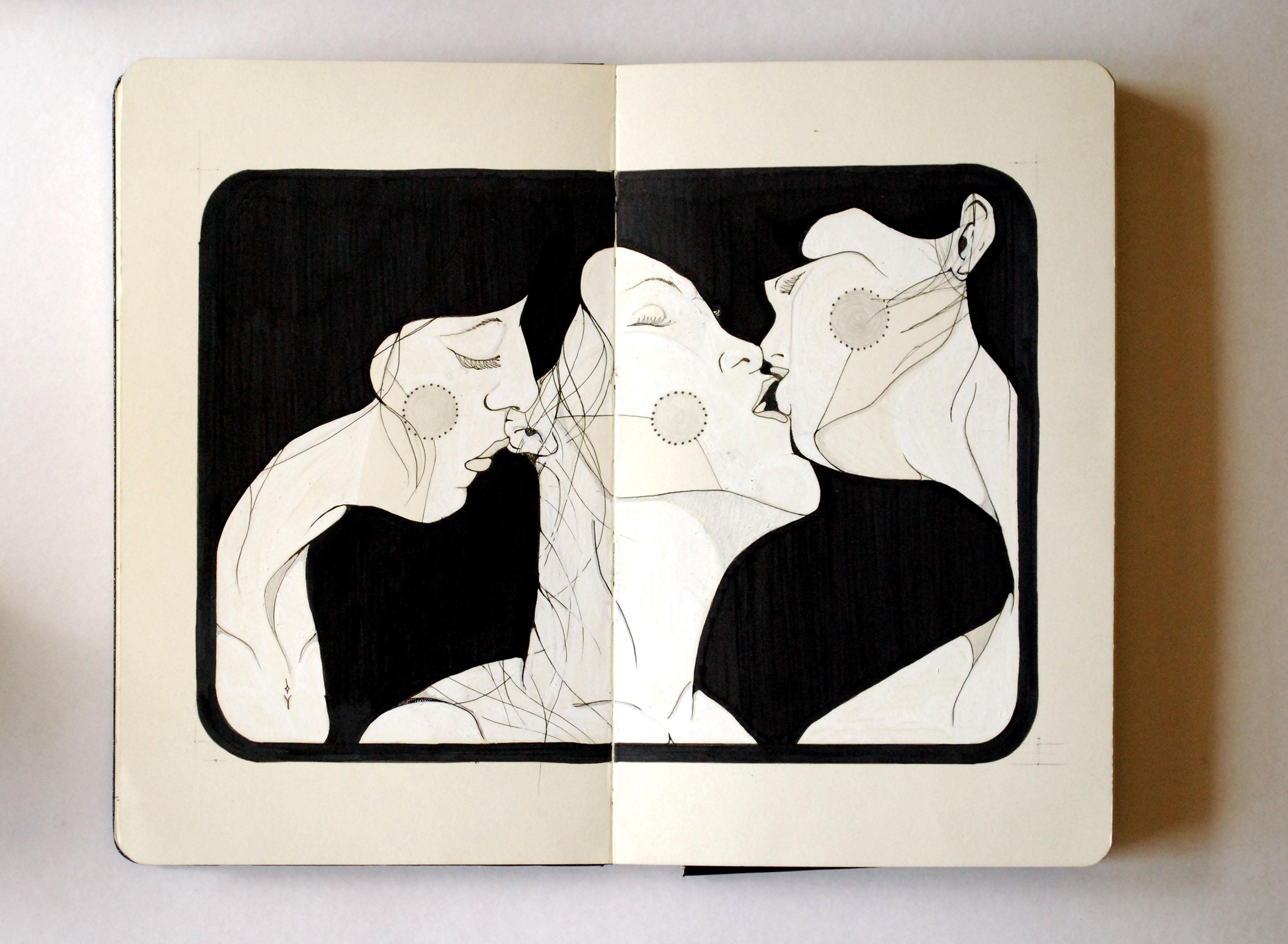 Moleskine | Ménage à Noir et Blanc | Gabriel Kieling