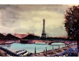 La torre desde el Puente Alejandro!