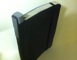 Pen holder for hip pocket moleskine