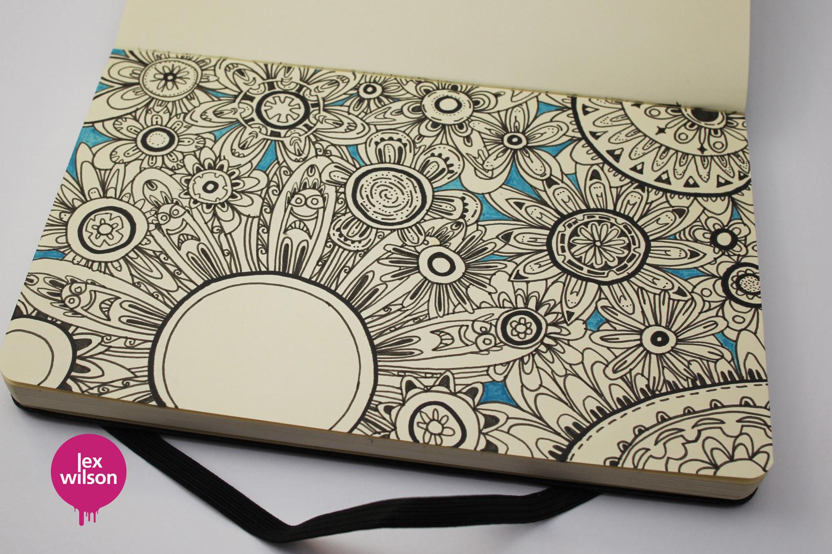 Moleskine illustration: Floral.