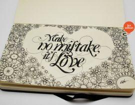 Moleskine illustration: Make No Mistake.