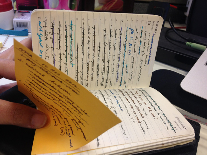My Moleskine keeps my messy life in check