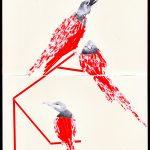 Красные птицы.