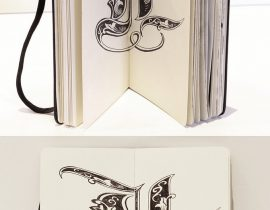 Anamorphic lettering (L)