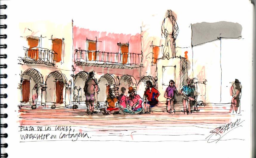 """Urban Sketching"" Workshop in Cartagena"