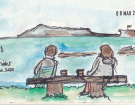 Hot drink's by the sea